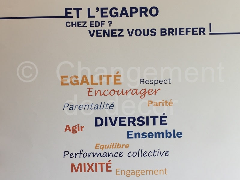 Outils de communication - spectacle égalité professionnelle chez EDF