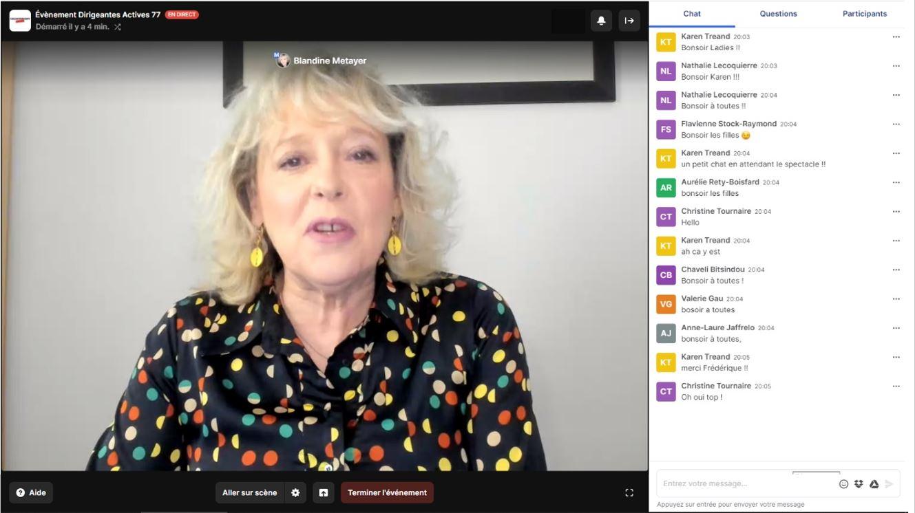 Webinaire Optimiste 10 ans de Femmes dirigeantes 77